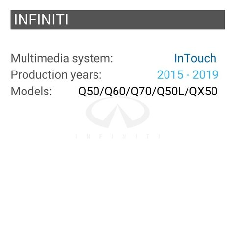 Безпровідний CarPlay та Android Auto адаптер для INFINITI з InTouch Прев'ю 1