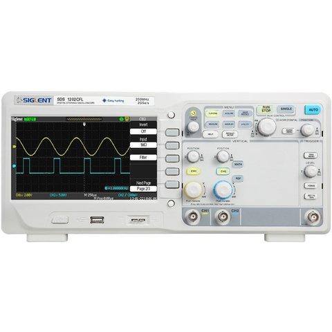Цифровий осцилограф SIGLENT SDS1202CFL Прев'ю 1