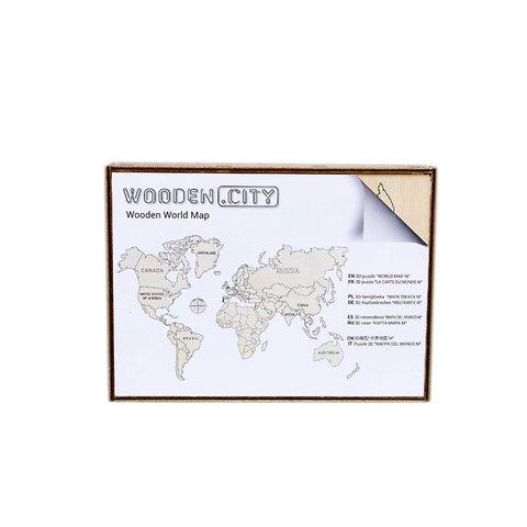 Деревянный 3D-пазл Wooden.City Карта мира (размер L) Превью 4